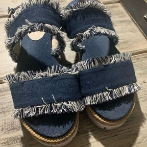 Shelley London denim sandals